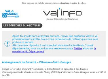 val'info : Infos travaux / Conférence emploi et handicap