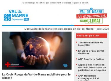 Lettre d'actualité du Val-de-Marne en mouvement pour le climat - Mars 2020