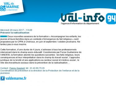 Val-info 94 : 29/03/2017