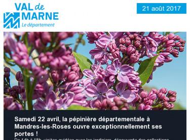 Lilas / MACVAL / APA / Tennis / Roseraie / Fête de l'abeille / Parc du Tremblay