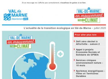 Lettre d'actualité du réseau Val-de-Marne en mouvement pour le climat - Octobre 2019