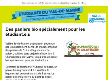 Des paniers bio spécialement pour les étudiant.e.s