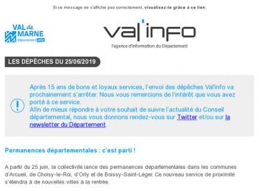 Val info :  Permanences départementales / Info-travaux à La Queue-en-Brie
