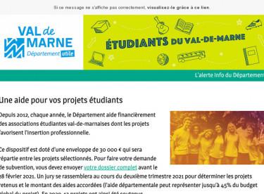 Une aide pour vos projets étudiants