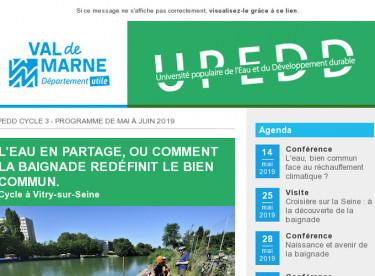 """[UPEDD] Cycle """"L'eau en partage :  baignade et bien commun """" à Vitry-sur-Seine"""