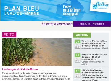 Lettre d'information du Plan bleu - Les berges du Val-de-Marne