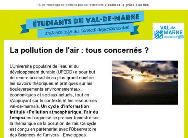 La pollution de l'air : tous concernés ?