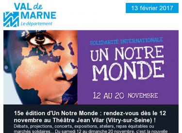 Un Notre Monde / Val'Hebdo / Egalité femmes hommes / Bièvre / Imagine R / Théâtrales Charles Dullin
