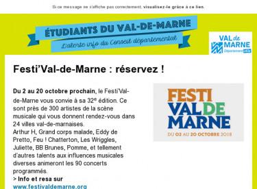 Festi'Val-de-Marne : réservez !