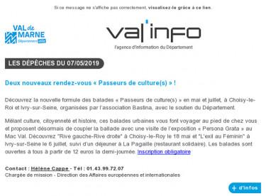 Val'info : 07/05/2019