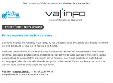Val'info : 24/05/2018