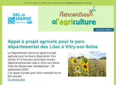 Rencontres de l'agriculture - Lettre d'information n°8