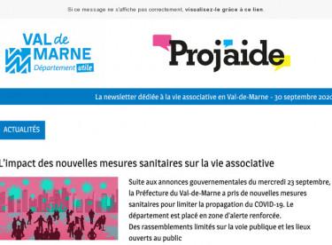 News Proj'aide #128 Des nouvelles mesures, une interview et des conseils pratiques pour les associations