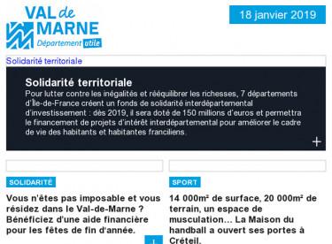 Departement utile / Solidarité / Maison du handball / Accessibilité / Collége Saint-Exupéry / Forum emploi / Grand Paris Express