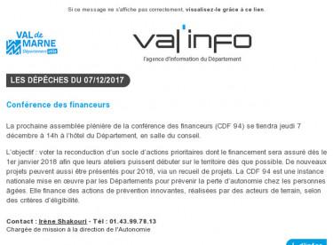 Val'info : 07/12/2017