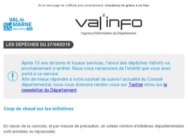 Val'info : Canicule et initiatives départementales/réseaux sociaux