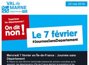 Journée sans Département / Crue / Grand Paris Express / Ciné Junior / Les Sciences des Livres / ESS / SilverFourchette
