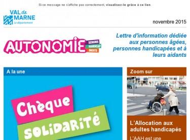 ChèqueSolidarité/AllocationAdulteHandicapé/EquipesMobilesAlzheimer...