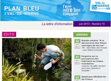 Lettre d'information du Plan bleu - La qualité des cours d'eau