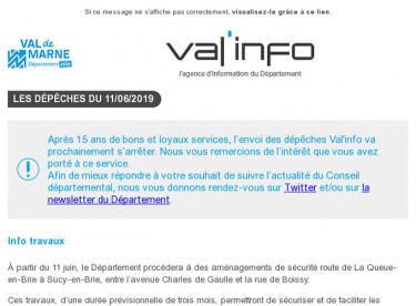 Val'info : Infos travaux - Assistants maternels en ligne