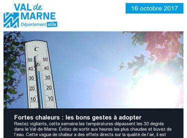 Fortes chaleurs / Parfums de musiques / Prix de l'Université / Communiqué / Eurovélo / Pierre-Fitte / Loisirs / Apprentissage
