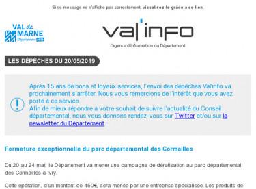 Val'info : 20/05/2019