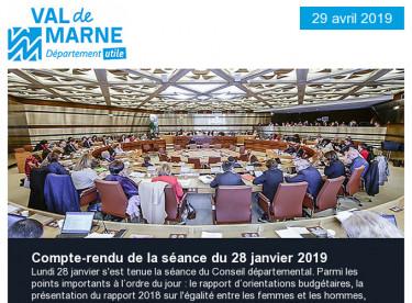 Séance du 28 janvier : égalité femmes-hommes, orientations budgétaires 2019, plan de déplacements / 3 questions à Josette Audin