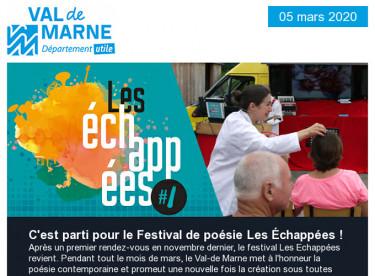 Rendez-vous le samedi 6 mars pour l'ouverture du Festival Les Echappées !