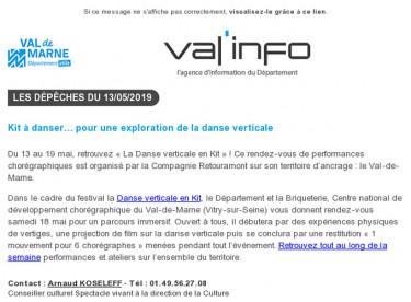 Val'info : 13/05/2019