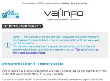 Val'info : Infos travaux