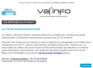 Val'info : 01/12/2017