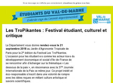 Les TroPikantes : festival étudiant, culturel et critique