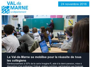 Rentrée 2016 / Travaux collèges / SOS Rentrée / Handball / Economies d'énergie