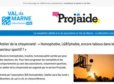 Flash Proj'aide #2 Atelier de la citoyenneté « Homophobie, LGBTphobie, encore tabous dans le secteur sportif ? »