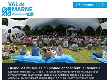 Parfums de musiques / Cop 22.5 / Communiqué / Ordival / Jeux du Val-de-Marne / Parc du Morbras