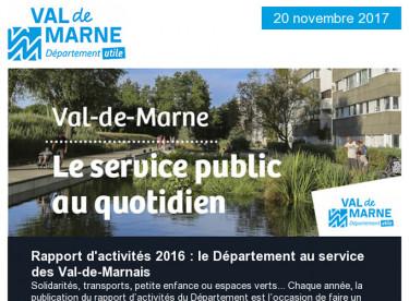 Rapport d'activités / Villages vacances / Autonomie / Communique / Forum de l'Emploi / Biodiversité