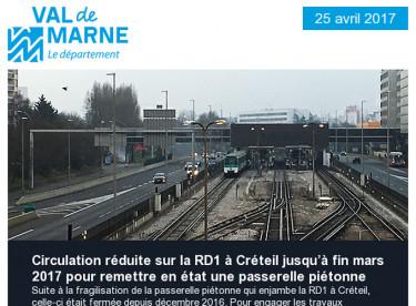 Travaux sur la RD1 / Collège Desnos / Lasagna bed / UPEDD / JSE / Ciné Junior / Egoutier