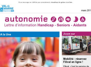 [Autonomie] Handicap et école : vite préparez-vous maintenant - Aidants : formez-vous - Mobilité : résa en ligne de Filival - Le