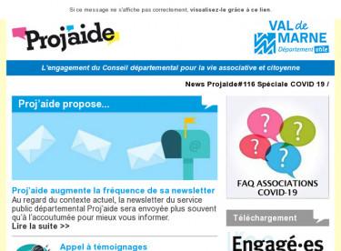 News Projaide#116 Spéciale COVID 19