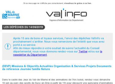 Val'info : Infos travaux / Sports et Nature / Prix