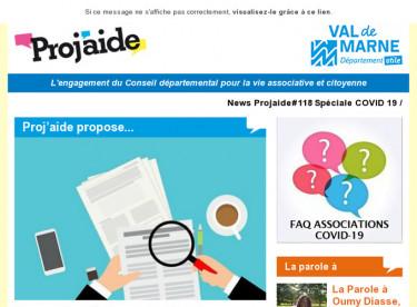 News Projaide#118 Spéciale COVID 19