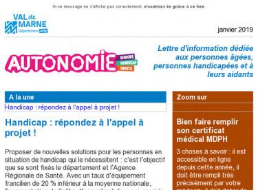 [Autonomie] Handicap: appel à projet ! - Certificat médical MDPH - Gratuit : check up santé à Villejuif