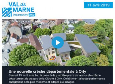 Une nouvelle crèche départementale à Orly / Comment éviter l'expulsion locative ? / Appel à projets en faveur du climat