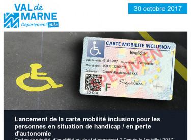 Carte mobilité inclusion / Nous n'irons pas à Avignon / Formations Proj'aide / Animations estivales / Prix de l'Université 2017