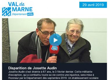 Hommage à Josette Audin / Le Département s'engage aux côtés d'Estelle Mossely / Soirée d'échanges sur les migrations