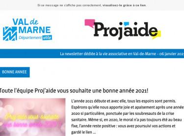 News Proj'aide 135 Bonne année 2021!