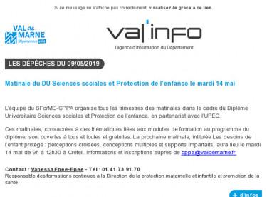 Val'info : 09/05/2019