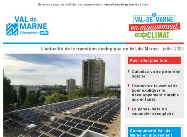 Lettre d'actualité du Val-de-Marne en mouvement pour le climat - été 2020