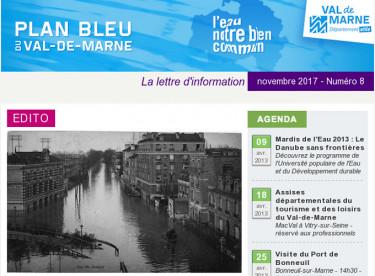 Lettre d'information du Plan bleu - Le risque inondation dans le Val-de-Marne