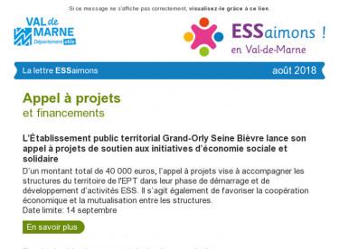 Lettre ESSaimons Val-de-Marne août 2018